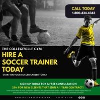 Soccer Training Сообщение Instagram template