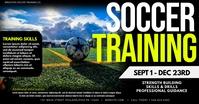 Soccer Training Obraz udostępniany na Facebooku template
