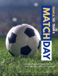 Soccer Video,Soccer Game, Soccer Match Flyer (US Letter) template