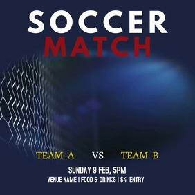 Soccer Video Instagram Post template