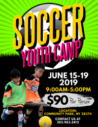 Soccer Youth Camp Flyer