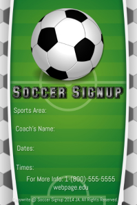 Soccer Signup Template