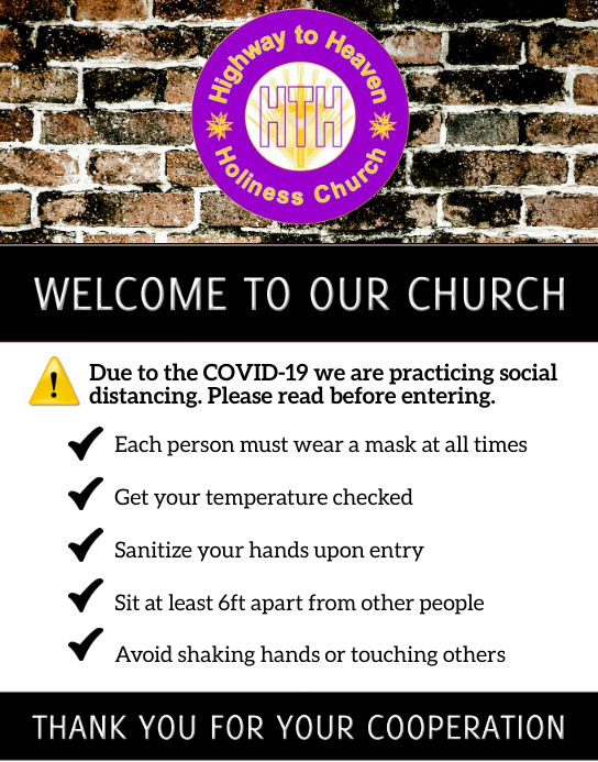 Social Distance Church Notice Poster/muurbord template