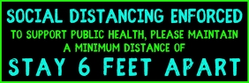 Social Distancing 6 feet Banner template