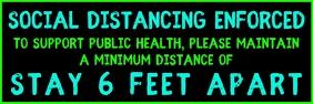Social Distancing 6 feet Banner