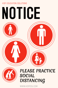 Social Distancing - Avoid Covid-19/Corona Póster template