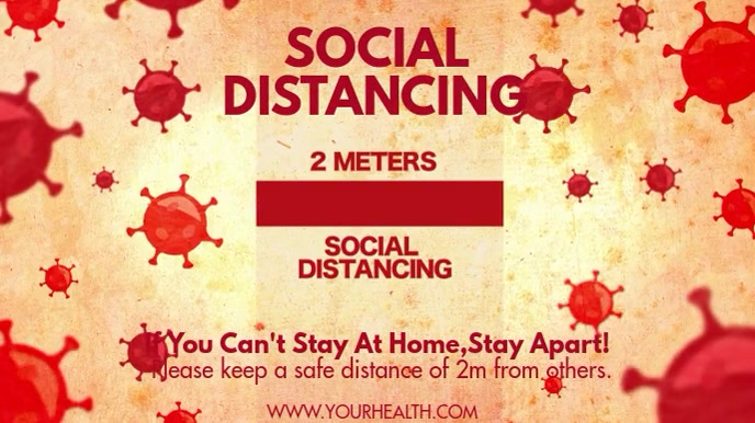 SOCIAL DISTANCING Digitale Vertoning (16:9) template