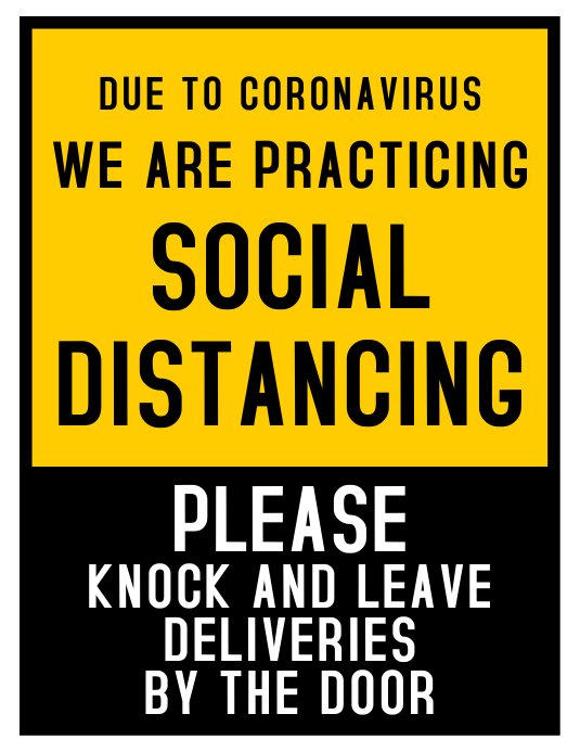 Social Distancing Flyer (US Letter) template