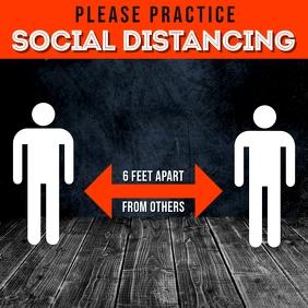 SOCIAL DISTANCING FLYER TEMPLATE