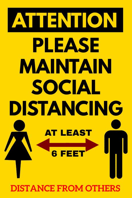 SOCIAL DISTANCING POSTER Iphosta template