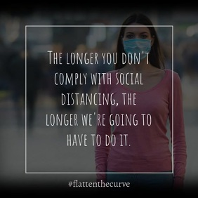 social distancing Quote Instagram Template