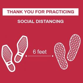 SOCIAL DISTANCING STICKER Publicación de Instagram template