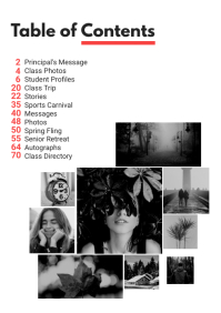 Social Magazine Table of Contents A4 template