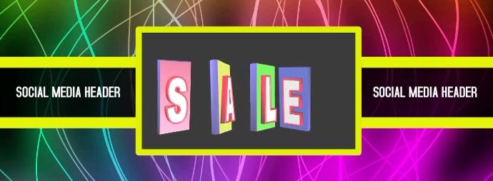 Social Media, Sale, Header, Flyer, Template