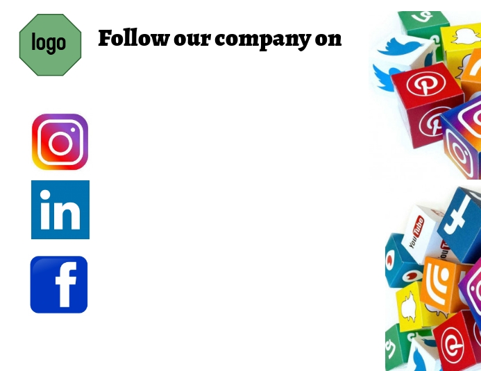 Social media accounts - contact companies Pamflet (Letter AS) template