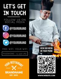 Social Media Branding Menu Pamflet (Letter AS) template