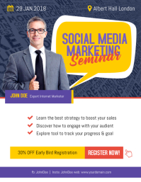 Social Media Business Marketing Flyer Poster