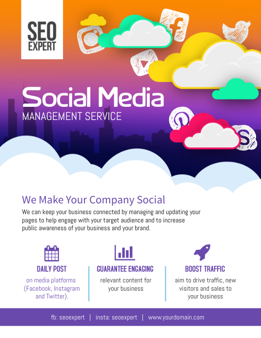 Copy of Social Media Business Marketing Flyer Poster ...