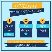 Social Media Contest Steps Pos Instagram template