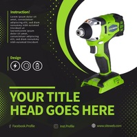 Green Industry tool For Sell On Social Media Instagram Post template
