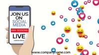 Social Media Facebook Live Video Template Цифровой дисплей (16 : 9)