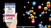 Social Media Facebook Live Video Template Digital na Display (16:9)