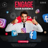 Social Media Management Ads Square (1:1) template