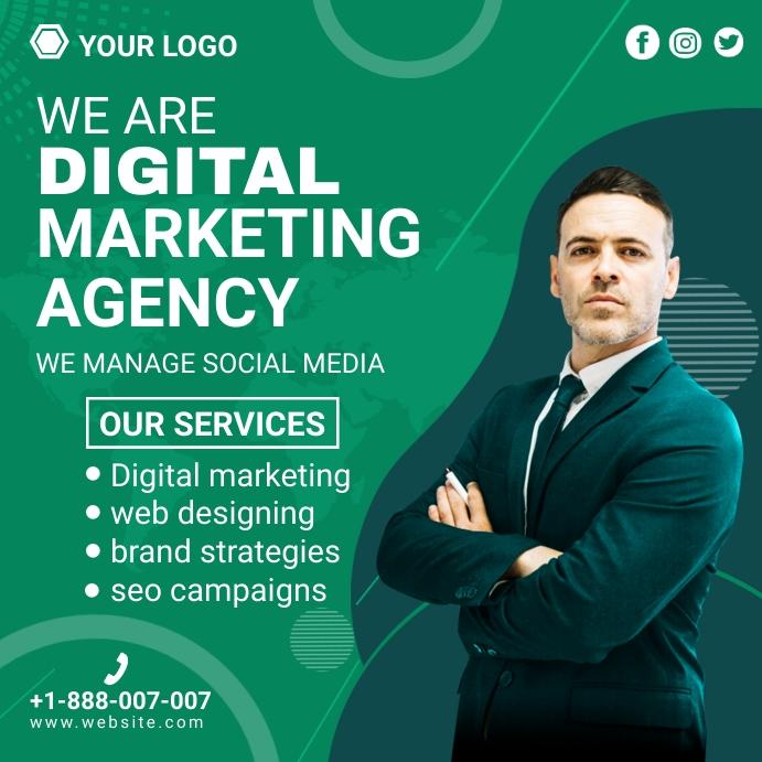 social media marketing ad Instagram-bericht template