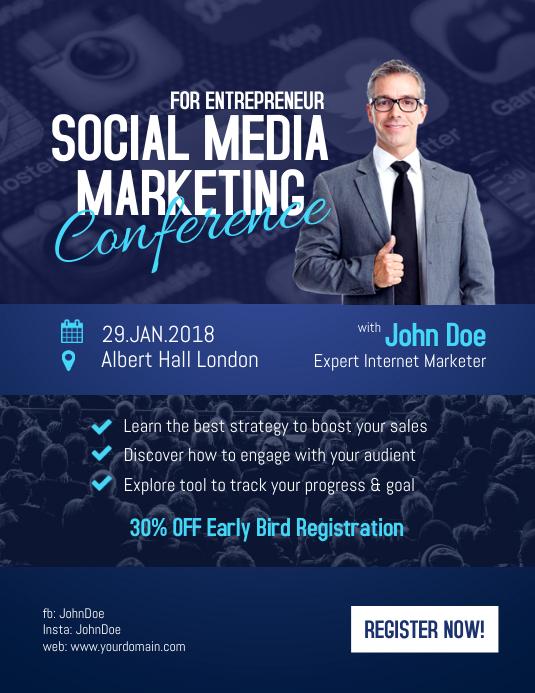 copy of social media marketing conference for entrepreneur