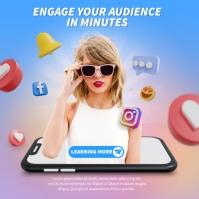 Social Media Marketing Persegi (1:1) template