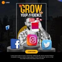 social media marketing Publicação no Instagram template