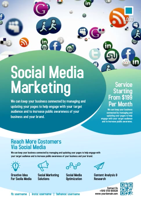 Social Media Marketing A4 template