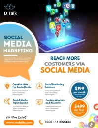 Social Media Marketing Flyer Ulotka (US Letter) template