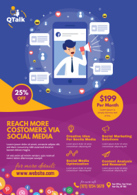 Social Media Marketing Flyer A4 template