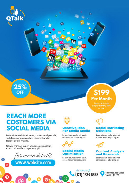 Social Media Marketing Flyer Template PosterMyWall