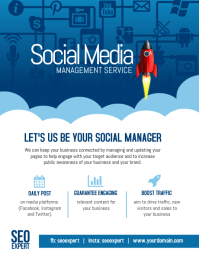 Social Media Marketing Management Company Poster Flyer