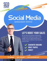 Social Media Marketing Services Flyer Template