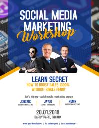 Social Media Marketing Workshop Flyer Poster