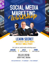 Social Media Marketing Workshop Flyer Poster