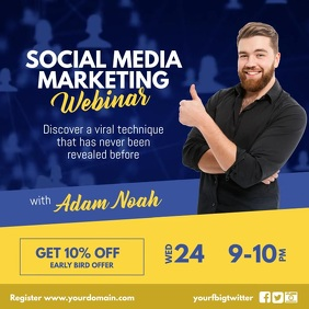 Social Media Marketing Workshop Instagram Instagram-bericht template