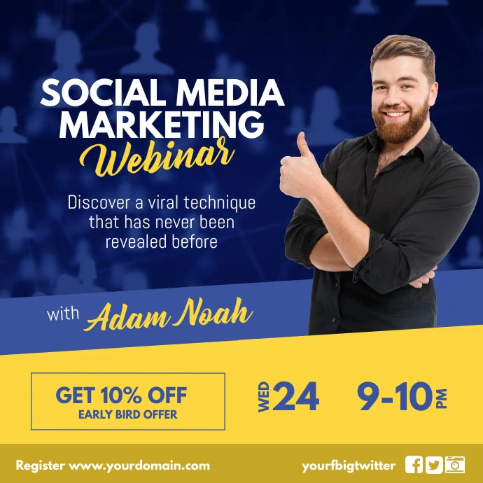Social Media Marketing Workshop Instagram template