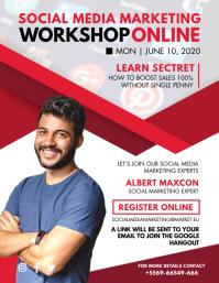 Social Media Marketing Workshop Online Flyer
