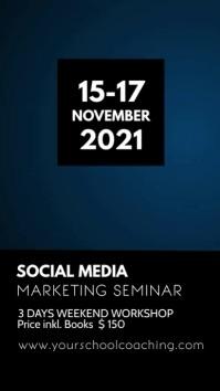 Social Media Online Digital Marketing Seminar Instagram 故事 template