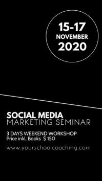 Social Media Online Digital Marketing Seminar Instagram-verhaal template