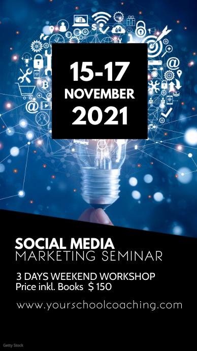 Social Media Online Digital Marketing Seminar Instagram Story template
