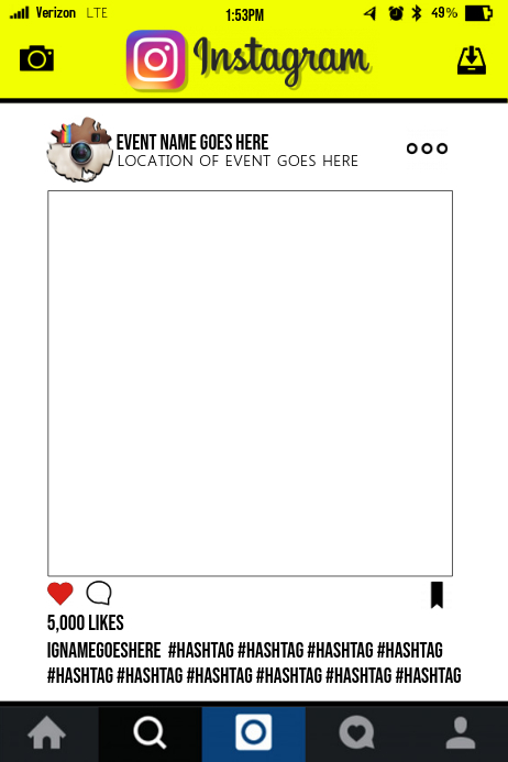 Social Media Party Prop Frame Template Postermywall
