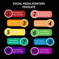 SOCIAL MEDIA POINTERS INFOGRAPHIC Instagram Post template