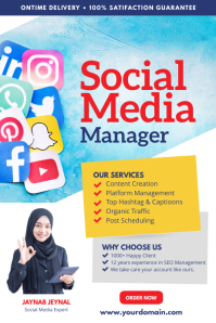 Social Media Services Flyer Poster 海报 template