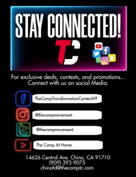 Social Media Stay Connected Volante (Carta US) template