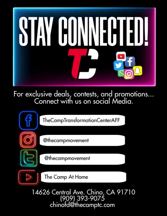 Social Media Stay Connected Pamflet (Letter AS) template